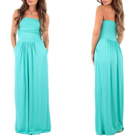 Rags and Couture Dresses & Skirts - Strapless Ruched Maxi Dress